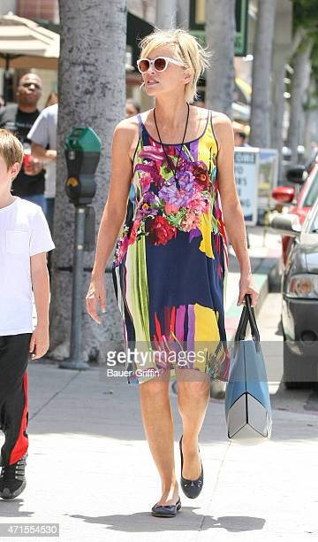 Sharon Stone is seen in Los Angeles on April 29 2015 in Los Angeles California