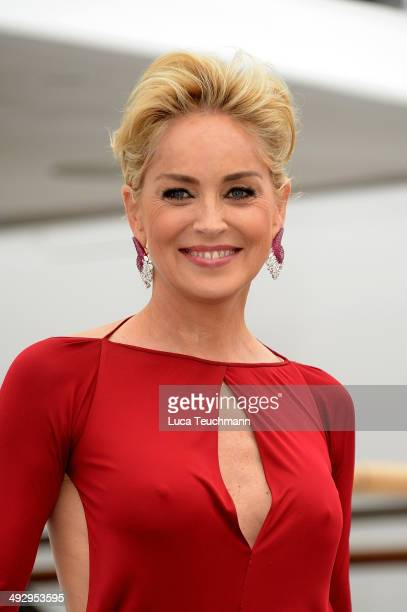 Sharon Stone is seen on day 9 of the 67th Annual Cannes Film Festival on May 22 2014 in Cannes France