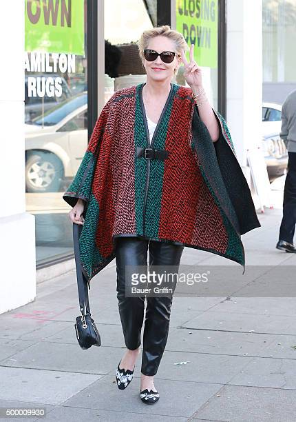 Sharon Stone is seen on December 04 2015 in Los Angeles California