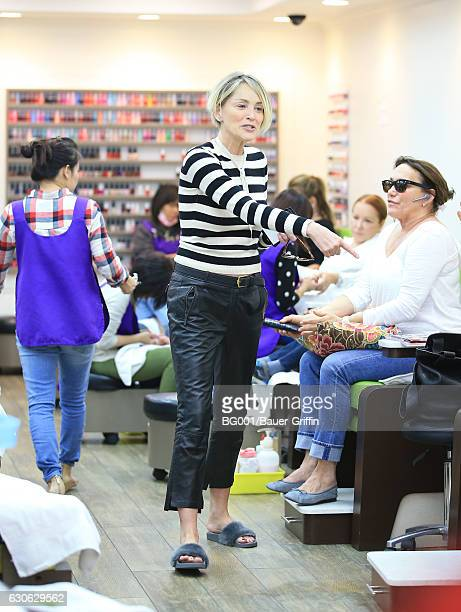 Sharon Stone is seen on December 28 2016 in Los Angeles California