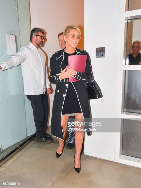 Sharon Stone is seen on October 18 2017 in Los Angeles California