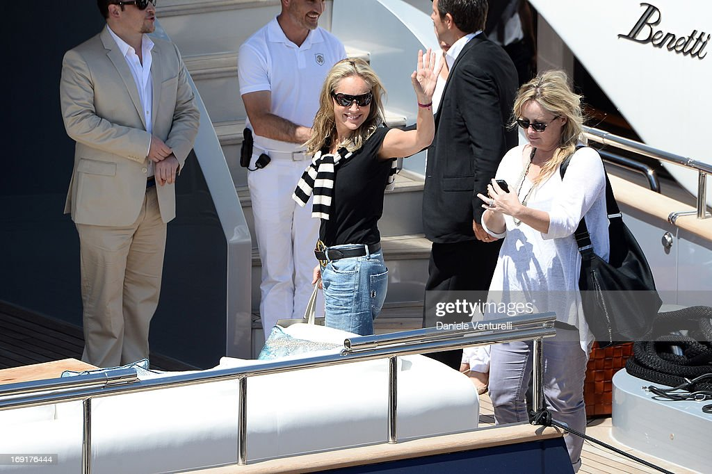 Sharon Stone is seen onboard the 'Roberto Cavalli' yacht during The 66th Annual Cannes Film Festival on May 21, 2013 in Cannes, France.