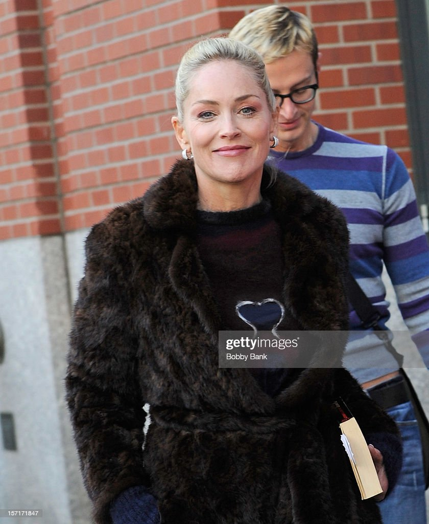 <a gi-track='captionPersonalityLinkClicked' href=/galleries/search?phrase=Sharon+Stone&family=editorial&specificpeople=156409 ng-click='$event.stopPropagation()'>Sharon Stone</a> on location for 'Fading Gigolo' on November 29, 2012 in New York City.