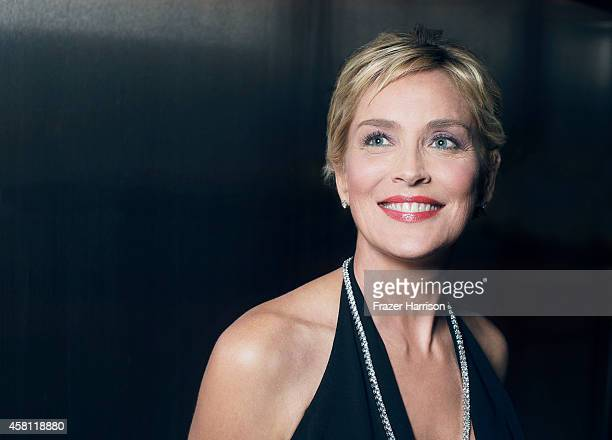 Sharon Stone poses for a portrait at the amfAR LA Inspiration Gala on October 29 2014 in Los Angeles California