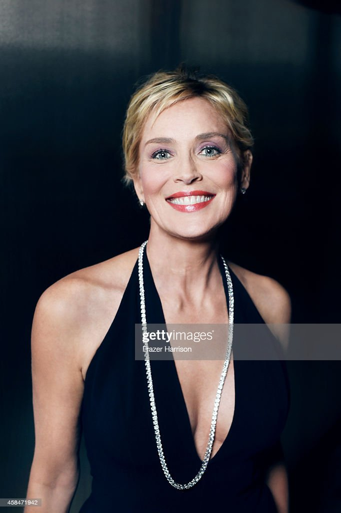 <a gi-track='captionPersonalityLinkClicked' href=/galleries/search?phrase=Sharon+Stone&family=editorial&specificpeople=156409 ng-click='$event.stopPropagation()'>Sharon Stone</a> poses for a portrait at the amfAR LA Inspiration Gala on October 29, 2014 in Los Angeles, California.