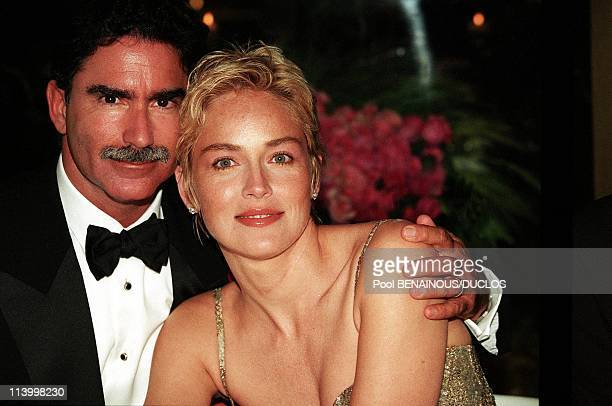 Sharon Stone Presides 'Amfar' Evening At Moulin In Mougins France On May 21 1998Sharon Stone and Phil Bronstein