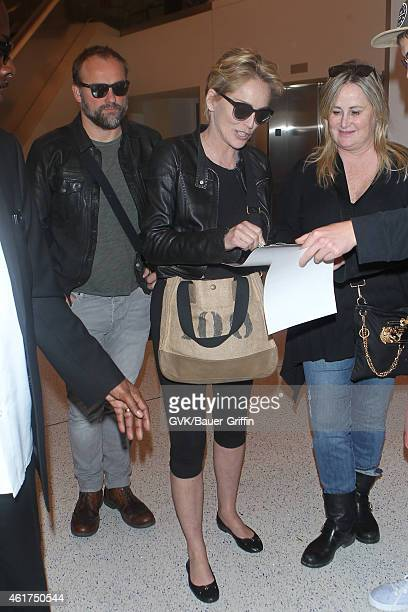 Sharon Stone seen at LAX on January 18 2015 in Los Angeles California