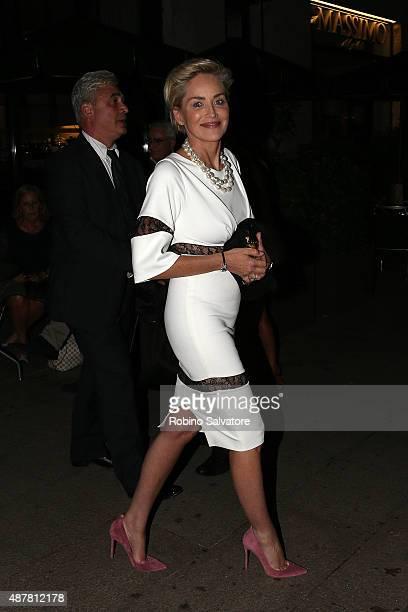 Sharon Stone sighting in Milan September 11 in Milan Italy