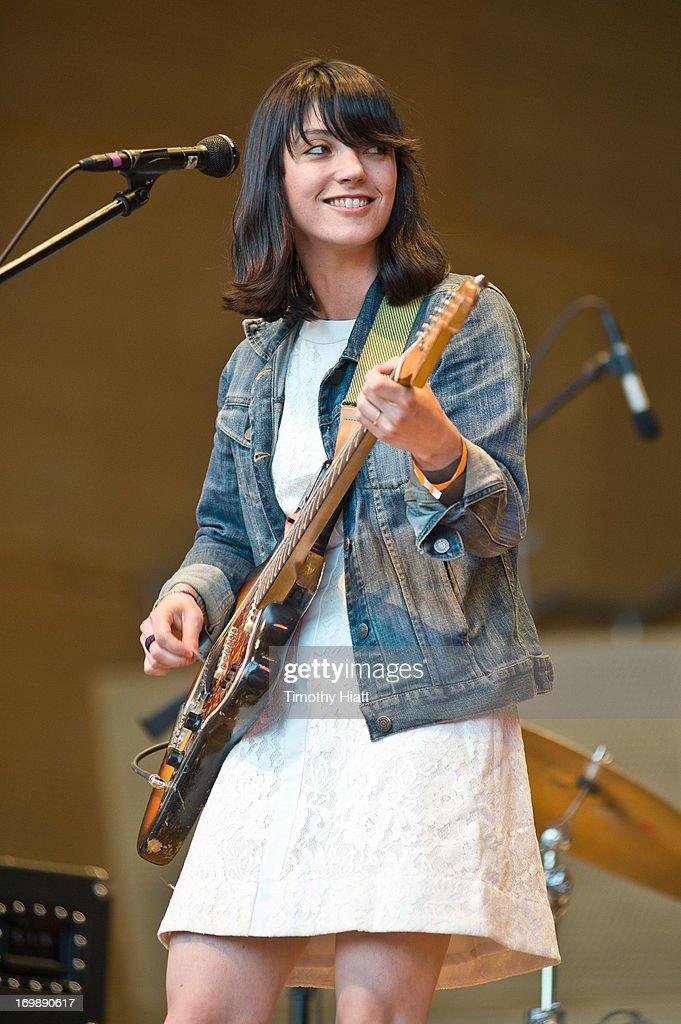 Sharon Van Etten performs at Jay Pritzker Pavillion on June 3 2013 in Chicago Illinois