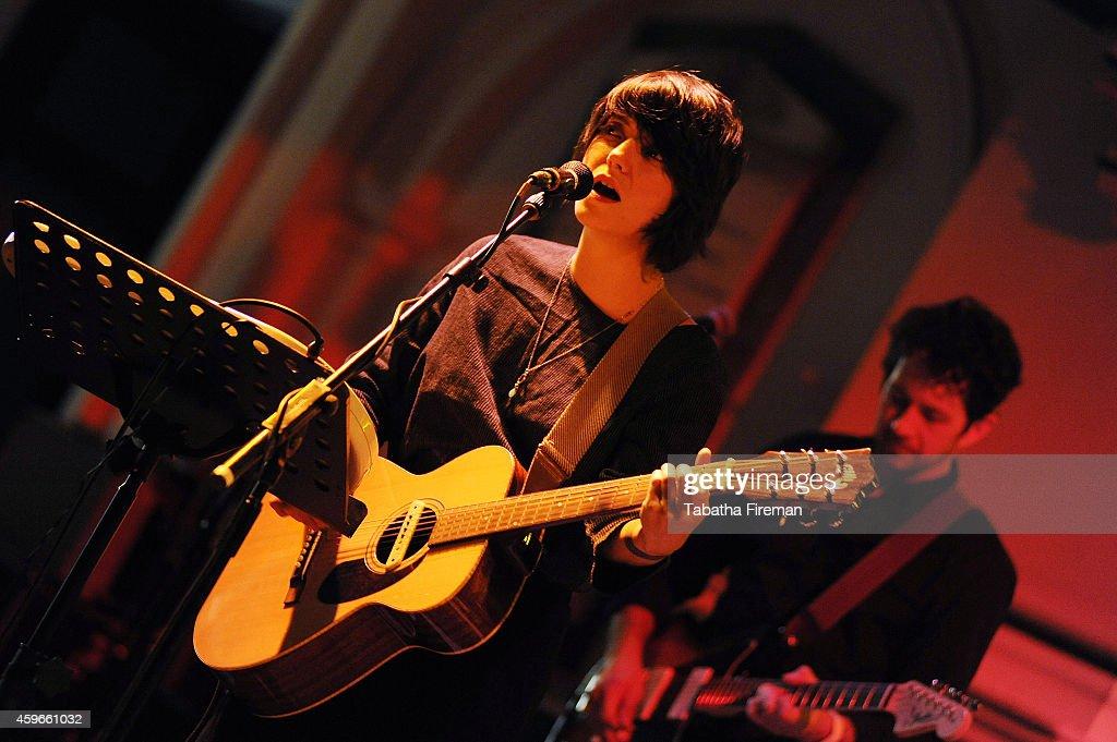 Sharon Van Etten performs at St George's Church on November 27 2014 in Brighton United Kingdom