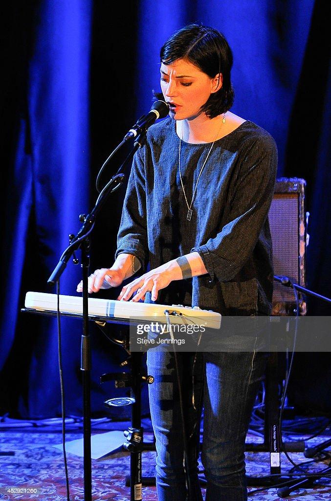 Sharon Van Etten performs at the Pandora Presents Sharon Van Etten at StubHub's Next Stage event at The Chapel on July 29 2014 in San Francisco...