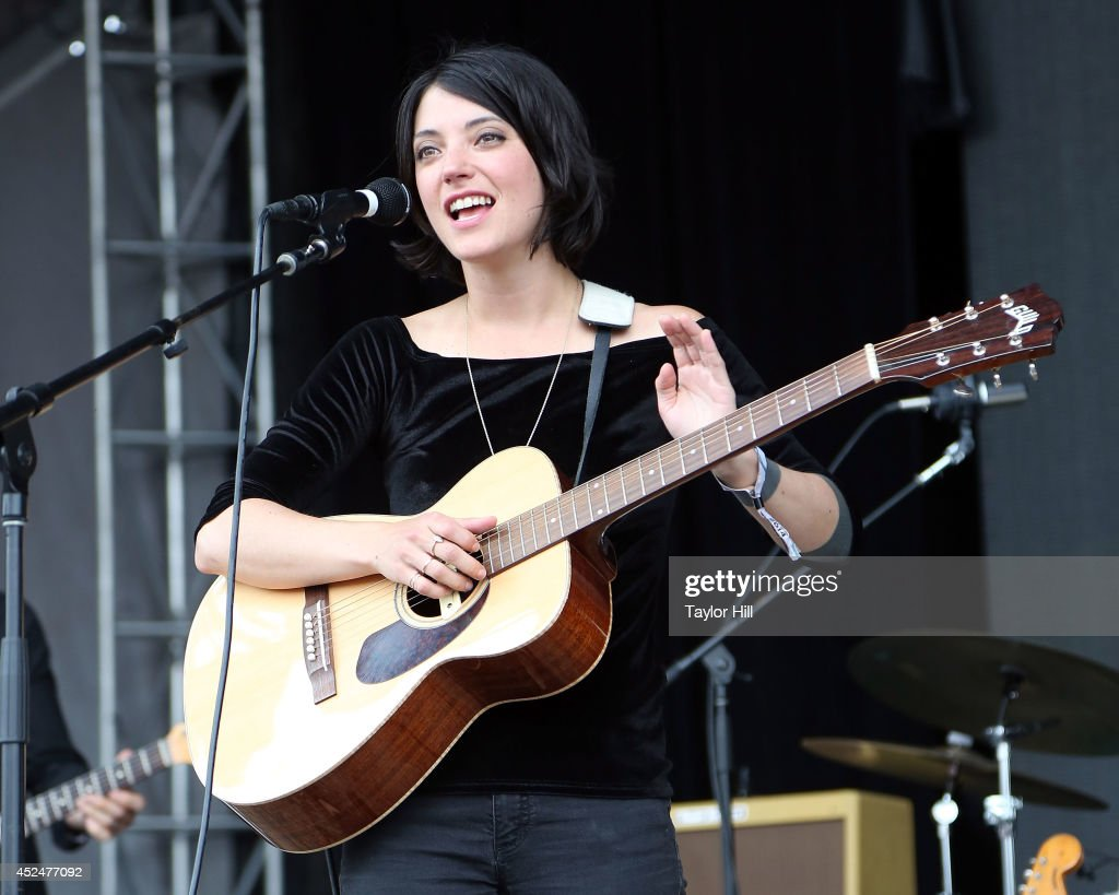 Sharon van Etten performs during the 2014 Forecastle Music Festival at Louisville Waterfront Park on July 20 2014 in Louisville Kentucky