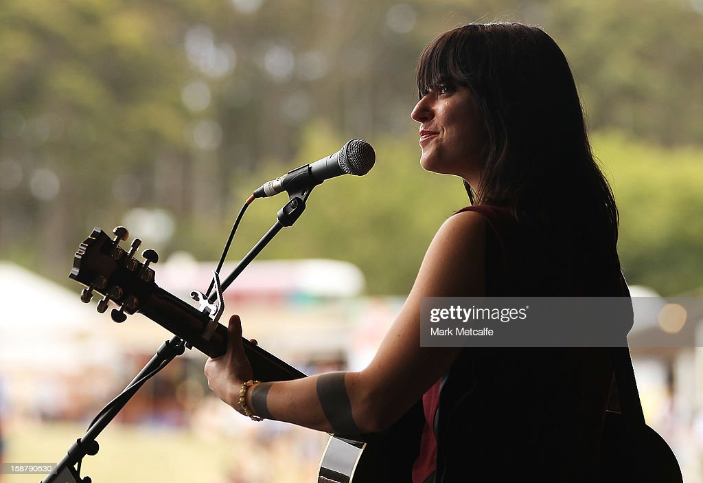 Sharon Van Etten performs live on stage at The Falls Music and Arts Festival on December 29, 2012 in Lorne, Australia.