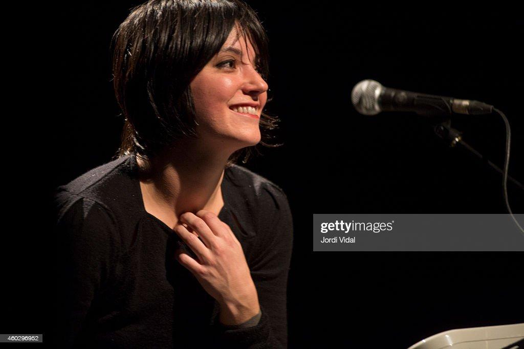Sharon Van Etten performs on stage at Foyer Gran Teatre Del Liceu on December 10 2014 in Barcelona Spain