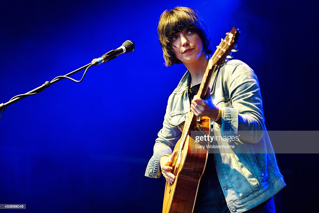 Sharon Van Etten performs on stage at Green Man Festival at Glanusk Park on August 16 2014 in Brecon United Kingdom