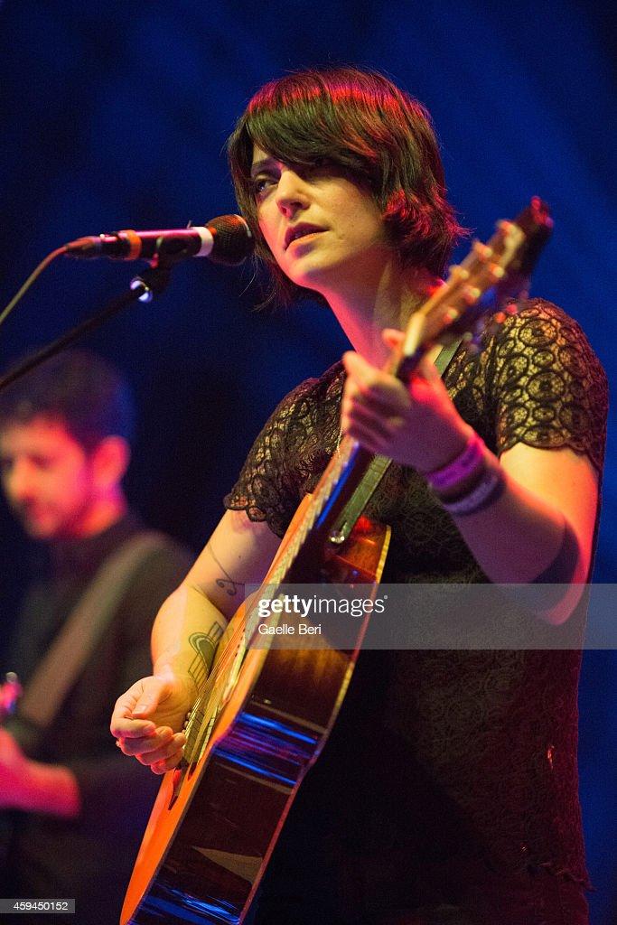 Sharon Van Etten performs on stage at Tivoli Vredenburg during Le Guess Who Festival on November 22 2014 in Utrecht Netherlands