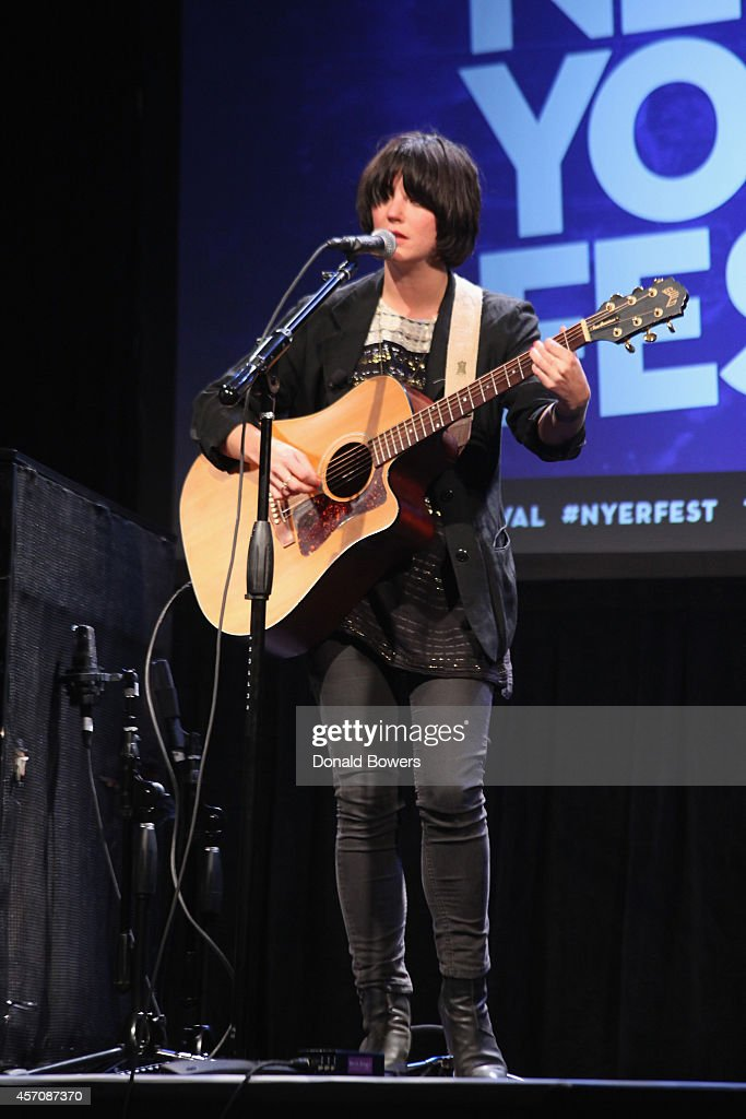 Sharon Van Etten performs onstage during The New Yorker Festival 2014 on October 11 2014 in New York City