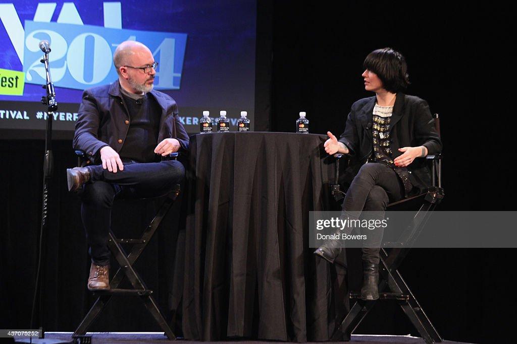 Sharon Van Etten speaks onstage with Sasha FrereJones during The New Yorker Festival 2014 on October 11 2014 in New York City