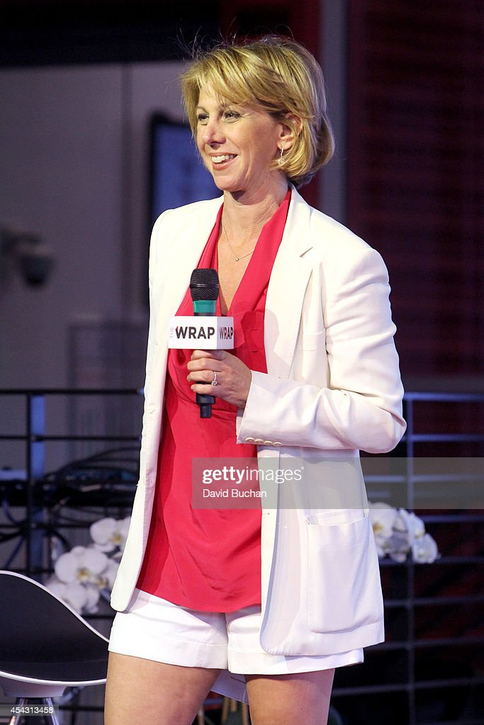 Sharon Waxman CEO and Editor in Chief at TheWrap speaks onstage at TheWrap's ShortList Film Festival at YouTube Space LA on August 28 2014 in Los...