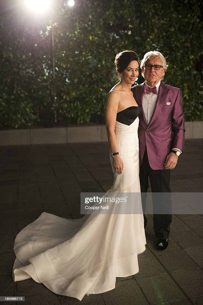 Sharon Young and Michael Young arrive for the 2013 TWO x TWO for AIDS and Art Gala at the Rachofsky House on October 26, 2013 in Dallas, Texas.