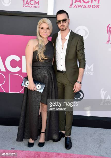 Sharona Nomder Kaikov and songwriter Nitzan 'KKOV' Kaikov attends the 52nd Academy Of Country Music Awards at Toshiba Plaza on April 2 2017 in Las...