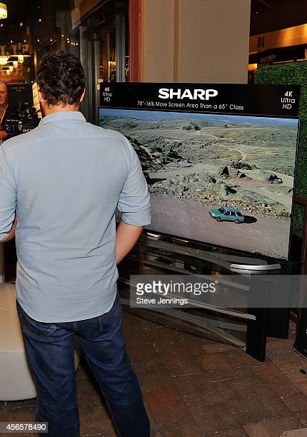 Sharp AQUOS 4K televisions feature some of the featured films at the 2014 Mill Valley Film Festival on October 2 2014 in Mill Valley California Sharp...
