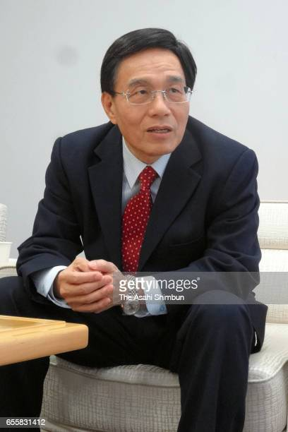 Sharp President Tai Jengwu speaks during the Asahi Shimbun interview at the company headquarters on March 15 2017 in Sakai Osaka Japan
