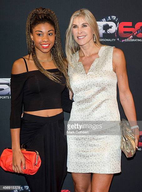 Sharron Davies and daughter Grace attend the BBC Sports Personality of the Year Awards at First Direct Arena on December 15 2013 in Leeds England