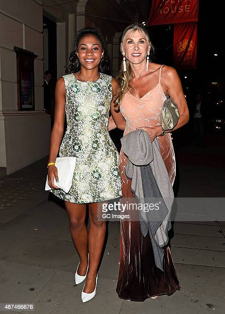 Sharron Davies and her daughter Grace attend the Team GB Gala Ball at The Royal Opera House on September 9 2015 in London England