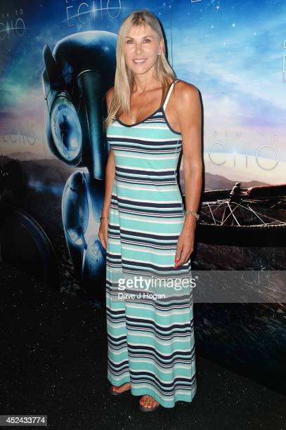 Sharron Davies attends a special screening of 'Earth To Echo' at The Mayfair Hotel on July 20 2014 in London England