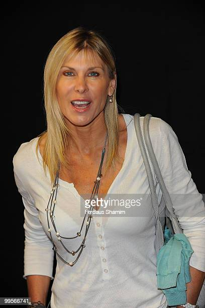 Sharron Davies attends the UK film premiere of 'Bob The Builder The Legend Of The Golden Hammer' at Vue Leicester Square on May 15 2010 in London...
