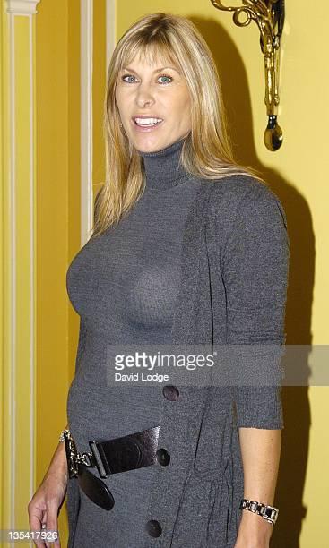 Sharron Davies during 2006 MakeAWish Fashion Show Arrivals at Dorchester Hotel in London Great Britain