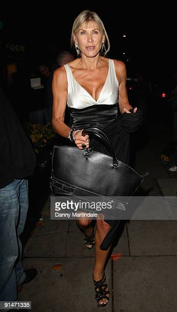 Sharron Davies is seen leaving the Pride of Britain Awards at the Grosvenor House Hotel on October 5 2009 in London England