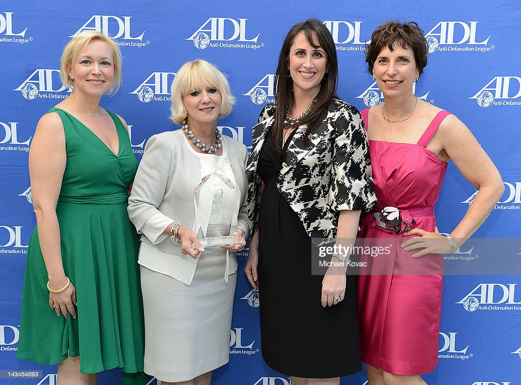 Sharyn Nichols, Renee Fraser, Jessica Babrick, and ADL Regional Director Amanda Susskind attend The Anti-Defamation League Deborah Awards at the Skirball Cultural Center on April 26, 2012 in Los Angeles, California.