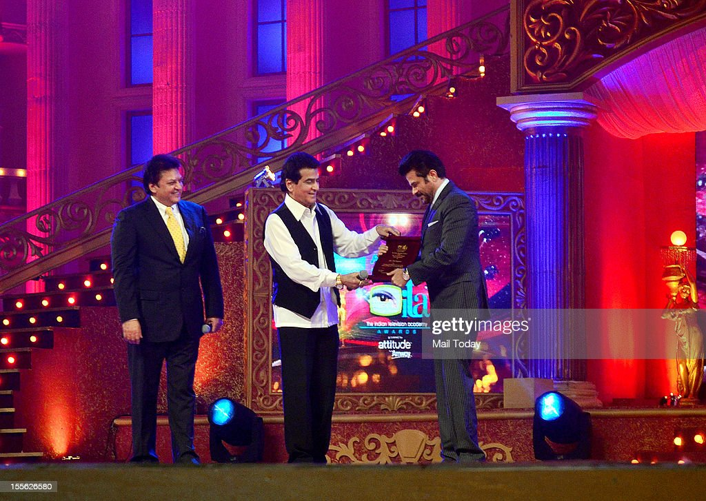 Shashi Ranjan, Jeetendra and Anil Kapoor during Indian Television Academy Awards 2012 (ITA Awards), held in Mumbai on November 4, 2012.