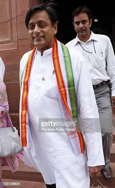Shashi Tharoor at Parliament on Monday July 26 2010