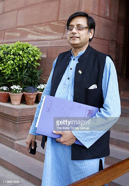 Shashi Tharoor at Parliament on Tuesday March 22 2011
