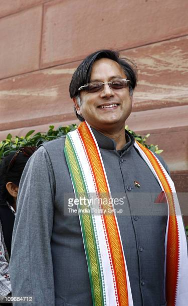 Shashi Tharoor at the Parliament House in New Delhi on Monday February 28 2011