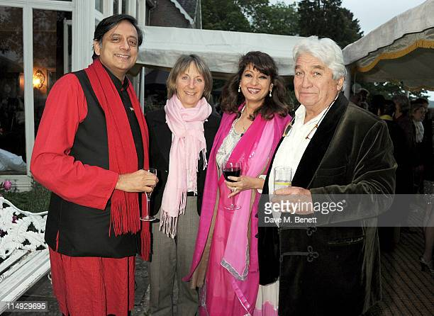 Shashi Tharoor guest Sunanda Tharoor and Robert Albert attend Range Rover's Hay Festival dinner hosted by Dylan Jones and Nick Jones on May 29 2011...