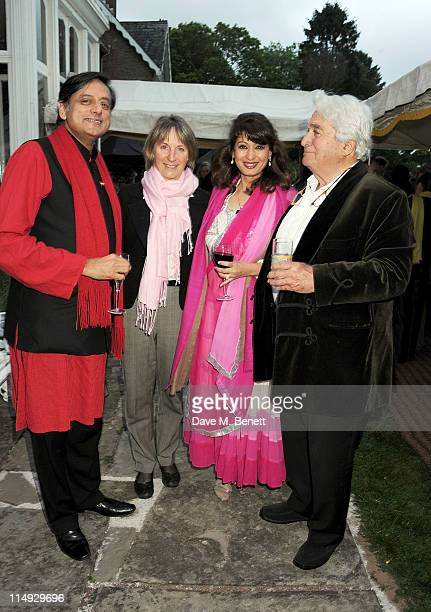 Y 29 Shashi Tharoor guest Sunanda Tharoor and Robert Albert attend Range Rover's Hay Festival dinner hosted by Dylan Jones and Nick Jones on May 29...