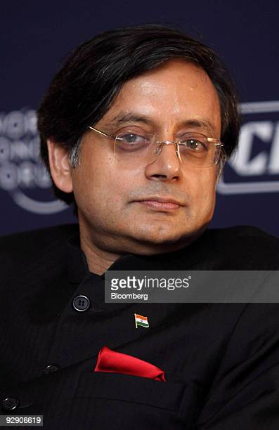 Shashi Tharoor India's minister of state for external affairs attends the World Economic Forum's India Economic Summit in New Delhi India on Monday...