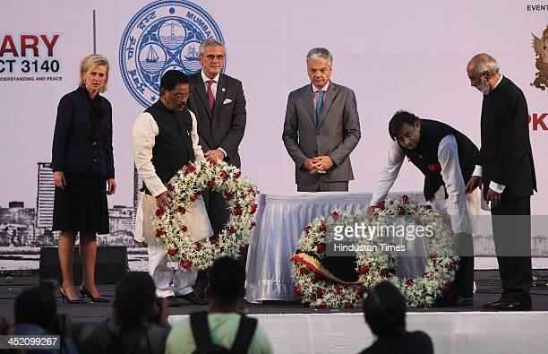 Shashi Tharoor Minister of State for Human Resource Development Suresh Shetty Kris Peeters Flemish Politician Princess Astrid of Belgium and Deputy...