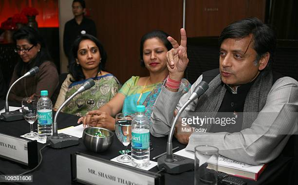 Shashi Tharoor speaking at the launch of the book ' Leading Ladies Women who Inspire India '