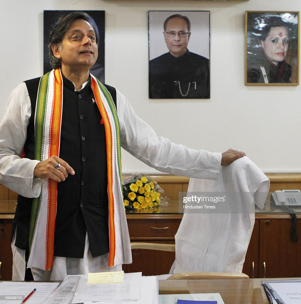 Shashi Tharoor Takes Charge As HRD Minister Of State