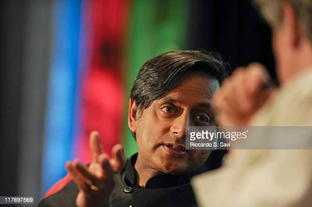 Shashi Tharoor speaks during the Aspen Ideas Festival 2011 day 3 on June 29 2011 in Aspen Colorado