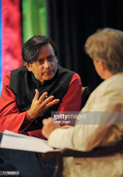 Shashi Tharoor speaks during the Aspen Institute's Aspen Ideas Festival 2011 at the Hotel Jerome on June 29 2011 in Aspen Colorado