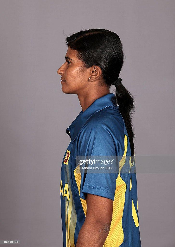 Shashikala Siriwardena, captain of Sri Lanka poses at a portrait session ahead of the ICC Womens World Cup 2013 at the Taj Mahal Palace Hotel on January 27, 2013 in Mumbai,India.
