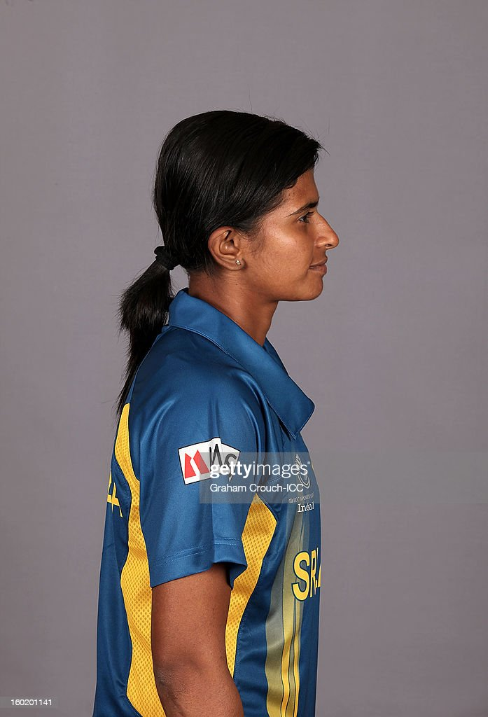 Shashikala Siriwardena, captain of Sri Lanka poses at a portrait session ahead of the ICC Womens World Cup 2013 at the Taj Mahal Palace Hotel on January 27, 2013 in Mumbai,India.