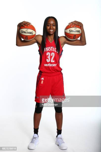 Shatori WalkerKimbrough of the Washington Mystics poses for a portrait during Media Day on May 11 2017 at Verizon Center in Washington DC NOTE TO...