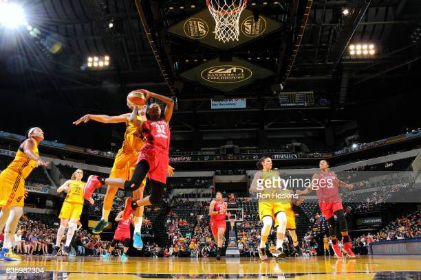 Shatori WalkerKimbrough of the Washington Mystics shoots the ball during the game against the Indiana Fever during a WNBA game on August 20 2017 at...